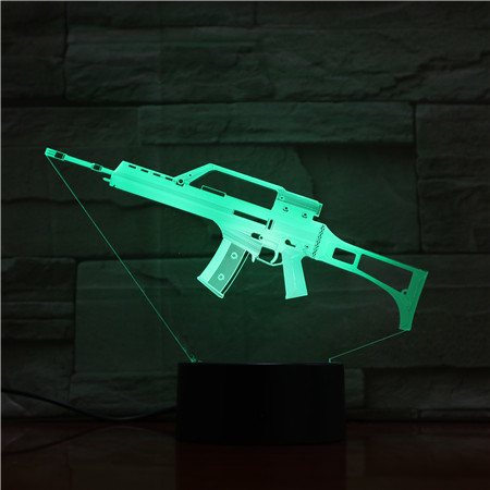 3d Luminaria 5v Usb Led Lamp Submachine Gun 3d Table Lamp 7 Colors 3d Decoration Lights As Kids Birthday Gifts Gx1729 Drip-Dry Lights & Lighting
