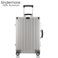 Sindermore 20 22 24 Hardside 100 Aluminum Luggage Suitcase Carry On Luggage Checked Luggage