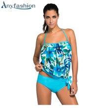 Sexy Bikini 2017 Tankini Set Plus Size Swimwear Female Push-Up Swimsuit Women Striped Bathing Suit Beach Wear Swimming Suit