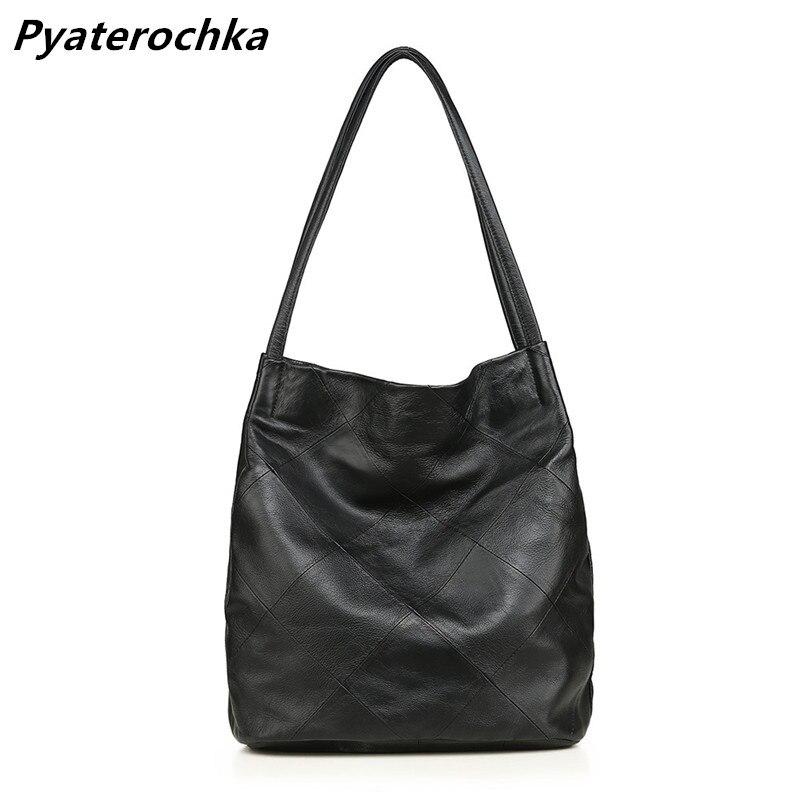 cf2652bb032a «Пятерочка» бренда сумки Для женщин из натуральной кожи большая роскошь  Сумка Большая Ёмкость высокое. «