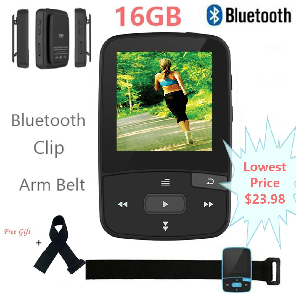 Mini Clip Bluetooth MP3 Player Original CHENFEC-C50 Portable FM Radio Pedometer Multi-funcation HiFi Sport MP3 Music Player
