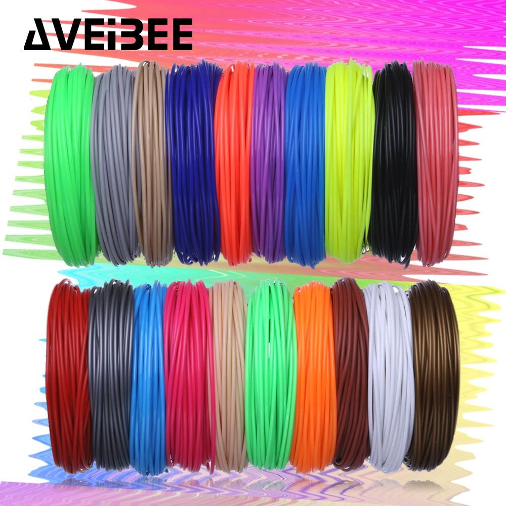 100 meter 10 kleuren 3 D materiaal 1,75 mm ABS-filamenten voor 3D-printen Pendraad Plastic printer Verbruiksartikelen voor verjaardagscadeau