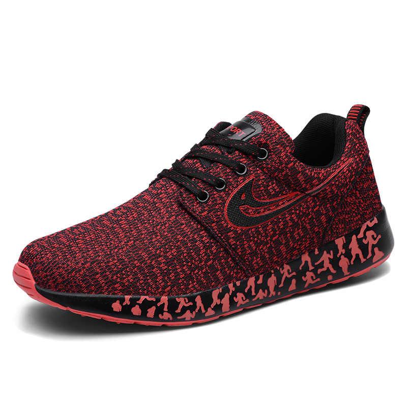 أحذية رجالي أربعة مواسم الذكور رياضية حذاء رجالي غير رسمي تنفس المدربين شبكة حذاء فاخر مان الأحذية Zapatillas Hombre