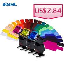 20 Color Photographic Color Gels Filter for Canon Nikon Yongnuo Flash Speedlite(China (Mainland))