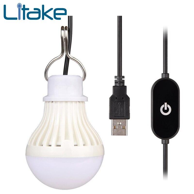 Litake Tragbare USB LED Glühbirne Dimmbare LED Camping Laterne für ...