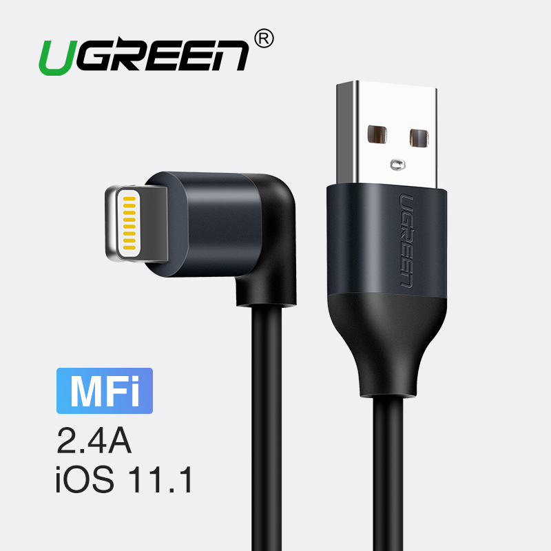 Ugreen For Apple MFi USB Cable For iPhone 7 X 8 6 2.A Fast Charging Data Cable for iPad Mobile Phone Charger Cable for iPhone 5S