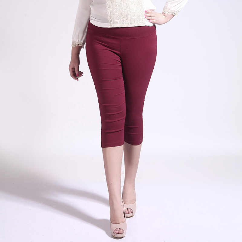 a7805ee3cf1 ... lady large size S M L 5XL capris summer thin cool short pants women  sexy leggings slim pencil ...