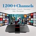 Android TV Box RK3128 Quad Core 1 GB/8 GB 2.4 Ghz WiFi 1 Ano IPTV europa Itália Francês Céu Canal Árabe Smart TV Box Media Player