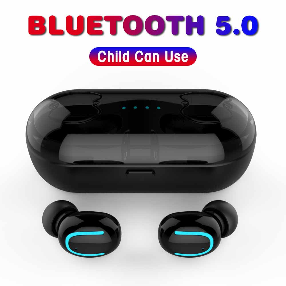 Bluetooth Earphones 5.0 True Wireless Earbuds Stereo Bluetooth Headphone Earphone Headset with Built-in HD Mic Charging Case Q13 农夫 山泉