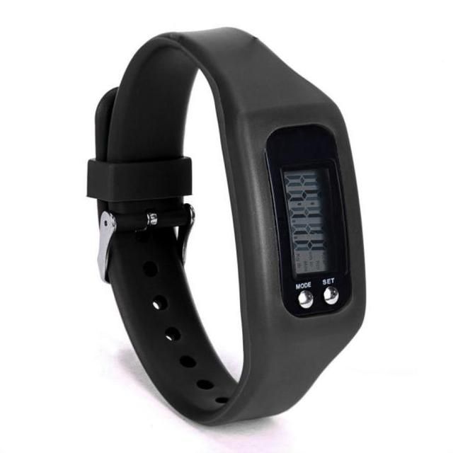 Digital LCD Pedometer Run Step Walking Distance Calorie Counter Watch unisex new
