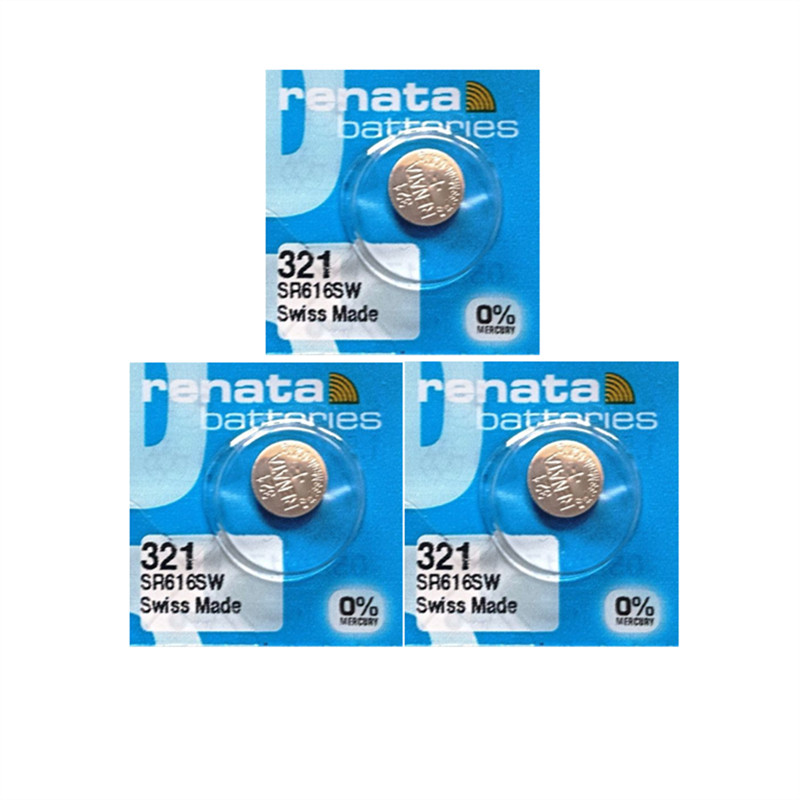 3 Xrenata Silver Oxide Watch Battery 321 SR616SW 616 1.55V 100% original brand renata 321 renata 616 battery шарм из серебра valtera 80016