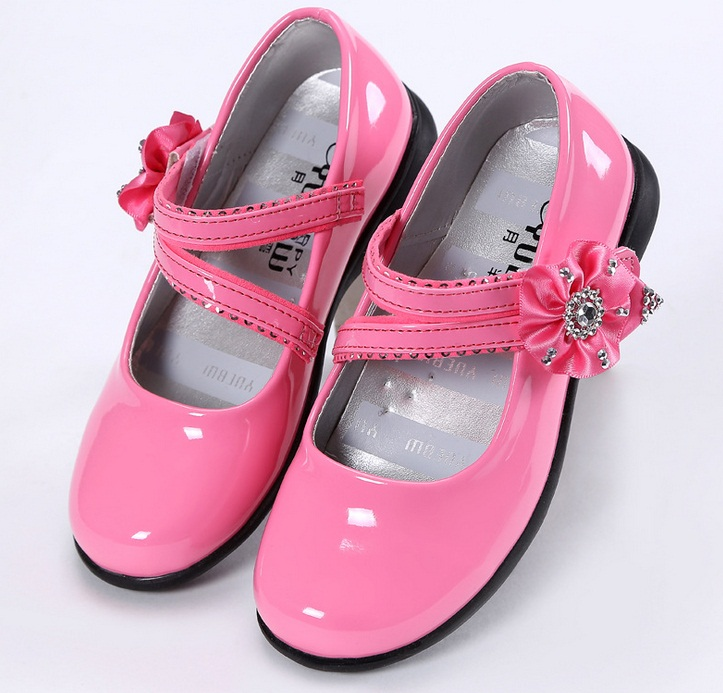 Hot 2017 New Girls School Leather Shoes Princess Shoes Spring Models Girls Casual -5873