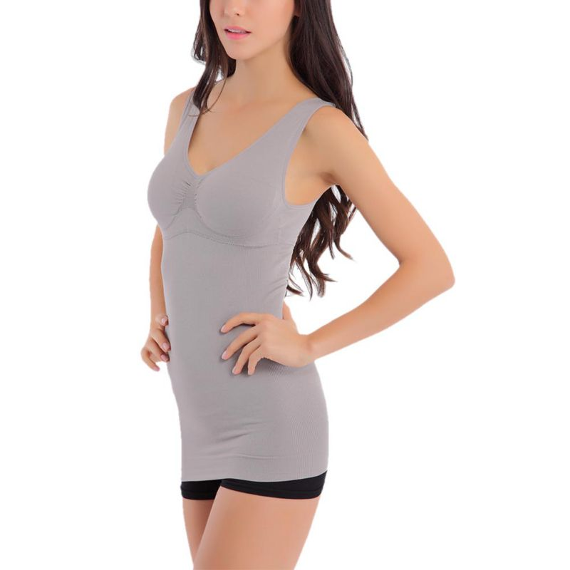Summer Slim Up Lift Bra Tank Top Women BodyRemovable Shaper Underwear Slimming Vest 7644