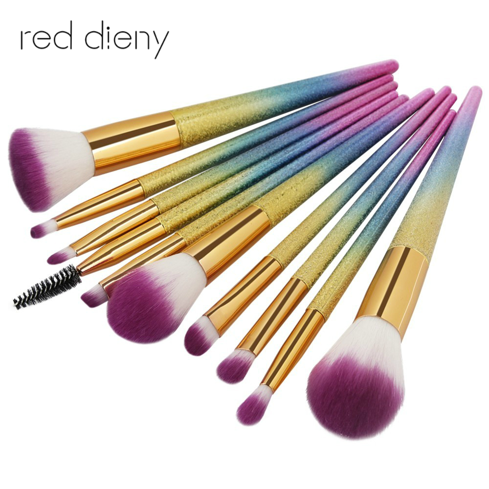 10Pcs 3D Makeup Brush Sets Tool Cosmetic Foundation Powder Mascara Beauty Eyeshadow Lip Makeup Eye Brushes Set bob cosmetic makeup powder w puff mirror ivory white 02