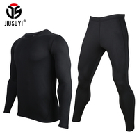 Cold Weather Thermal Fleece lined Underwear Sets Men Long Johns Warm Stretch Tight Tops Bottoms Suits Clothes Base Layers Male
