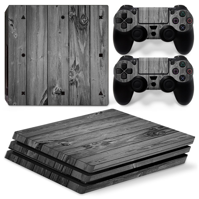 Wood Grain Skin Sticker Decals Protective For PS4 PRO wrap