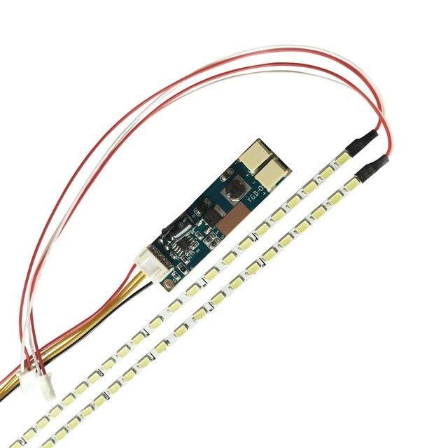Marca nuevo Universal destacar regulable de retroiluminación LED lámparas actualización kit ajustable de luz LED para Monitor LCD 2 tiras de LED