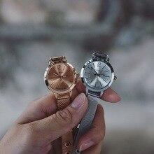 Women Watches Ultrathin Stainless Steel Mesh Band Fashion Quartz Wrist Watch Ladies Elegant Dress Watch Clock PT