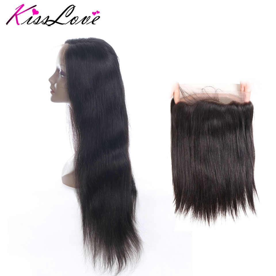 Brazilian Straight Hair 360 Lace Frontal Closure 10-20inch Natural Hairline Free Shipping 100% Human Hair Remy Hair