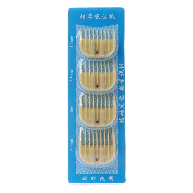 Kemei 4Pcs Replacement Trimmer Guide Comb Attachment For Electric Hair Clipper Shaver Tool
