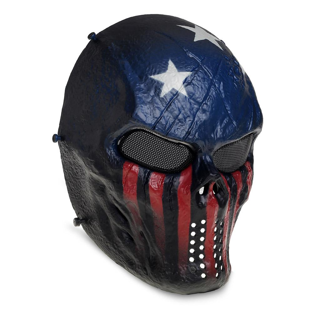 buy airsoft paintball tactical full face protection skull mask skeleton outdoor arm captain. Black Bedroom Furniture Sets. Home Design Ideas