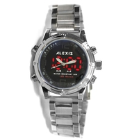 ALEXIS Brand BackLight Water Resistant Alarm   Dual   Time Analog Digital   Watches   for man led   watch   montre homme horloge mannen
