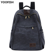 Classic Retro Canvas Backpack Unisex Casual Travel College Style Lady Student Bag With Hidden Headphone Jack XZ-182.