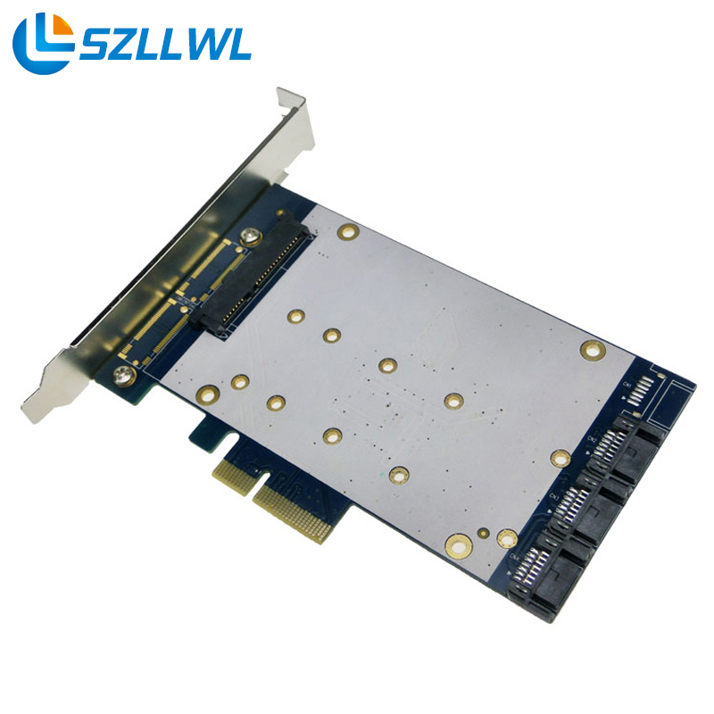 NEW 2.5 SATA+SATA III PCI-e Card Marvell 9230 two 6 Gb/s SATA peripheral interface ports