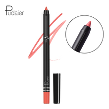 Pudaier Matte Lip Liner Pencil Waterproof Gel Pencil Makeup Long Lasting Nude Make Up Red Velvet