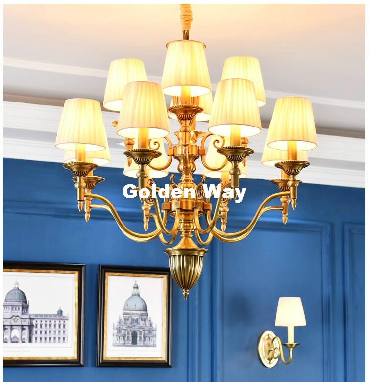 Free Shipping Vintage Copper Chandelier Nordic Brass Creativity Coffee Bar Dining Room E14 Chandelier Indoor Lighting Fixtures modern 3l 5l 6l 8l 10l brass pendant lamp antique brass chandelier vintage total copper glass ac 100% guaranteed free shipping