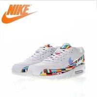 Original Authentic Nike Air Max 90 NIC QS International Flag Men's Running Shoes Sport Outdoor Sneakers Designer Footwear AO5119