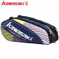 2019 Kawasaki Waterproof Badminton Tennis Rackets Bag Backpack Squash Racquet Team Sports Bags Hold 3 6 Rackets With Shoe Bag