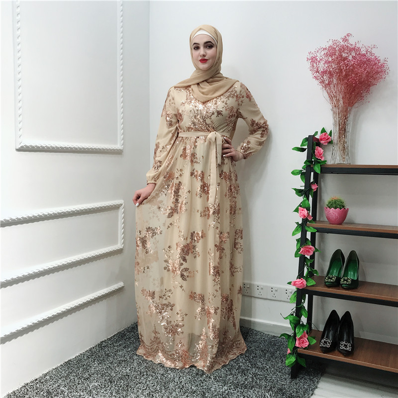 Luxury Muslim Lace Embroidery Bronzing Abaya Full Dresses Cardigan KimonoLong Robe Gowns Jubah Middle East Eid Ramadan Islamic