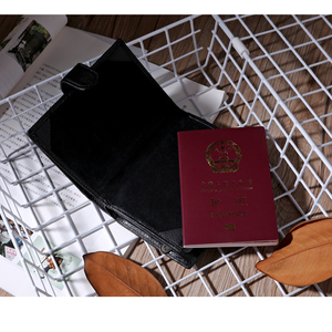 Image 5 - עור אמיתי כיסוי דרכון גברים נסיעות דרכון מחזיק כרטיס מקרה כרטיס איש ארנקים באיכות גבוהה