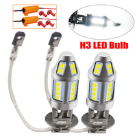 2pcs H3 LED Car Fog Lamp 150W with Decoder High Power 3030 Chip Waterproof White Auto Front Headlamp Fog Driving Lights 12V 24V