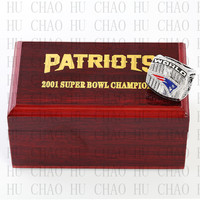 Year 2001 New England Patriots Super Bowl Championship Ring 10 13Size TOM BRADY Fans Gift With