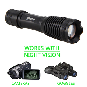 Image 4 - 5W 940nm IR LED Flashlight Hunting Tactical Zoomable Night Vision Torch Infrared Radiation Focus Lanterna Gun Mount 18650