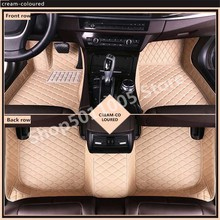 Suitable for 3D Car Floor Mats For Toyota Land Cruiser 100 200 Waterproof Leather Floor Mats Car-styling Interior Car Carpet Mat