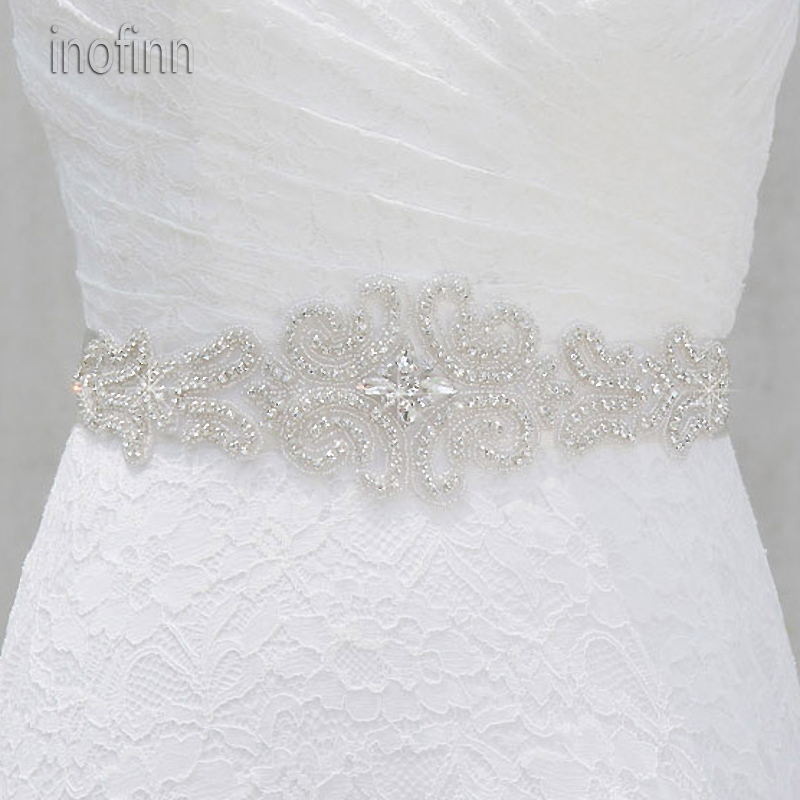Inofinn WH14 Crystal Rhinestones Evening Party Gown Dresses Accessories Wedding Belts Sashes,Bride Waistband Bridal Sashes Belts