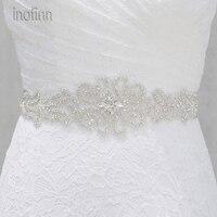 Inofinn WH14 хрустальные стразы Вечеринка платья аксессуары Свадебные ремни пояса, невеста пояс свадебные пояса Ремни