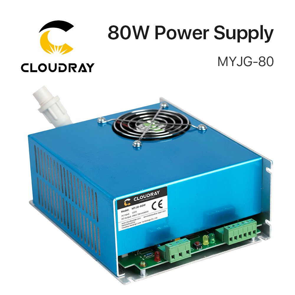 Cloudray 80W CO2 Laser Power Supply for CO2 Laser Engraving Cutting Machine MYJG-80 80w co2 laser power supply for co2 laser engraving cutting machine myjg 80w