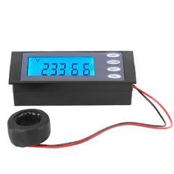 PEACEFAIR Digital PZEM-006 AC 80-260V 100A Current Voltage Watt KWh Time Panel Meter Voltmeter + CT