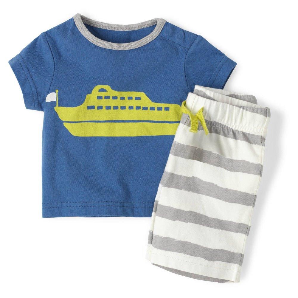 36sets/Lot Summer Boys Clothes Suits Wholesale Children's Clothing Set Short Sleeve T-Shirt Shorts Suit Hot Sale Kids Pajamas