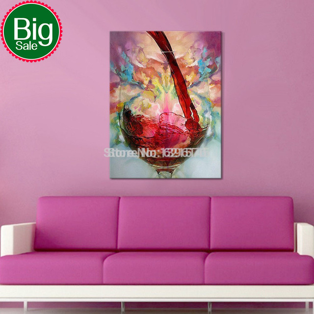 Hand painted modern wall art picture wedding living room bedroom ...