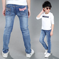 2017 Spring and Autumn Hot Fashion Children's Jeans 4-13 Year-old Boy Mug Pouch Pouch Hinges Flag Bunny Trousers
