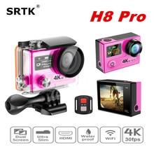 Mini camcorder Action camera Ambarella A12 4K 30fps / 1080P 120fps WiFi with remote Dual Screen go sport cam h8 pro