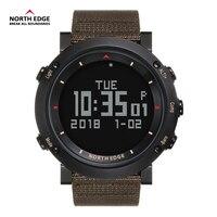 NORTH EDGE цифровые часы для мужчин часов бег одежда заплыва спортивные альтиметр барометр ralarm компасы часы Thermomete Rrelogio
