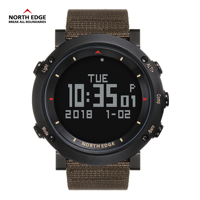 NORTH EDGE Digital Watch Men Hours Running Swimming Sports Watches Altimeter Barometer ralarm Compass clock Thermomete Rrelogio