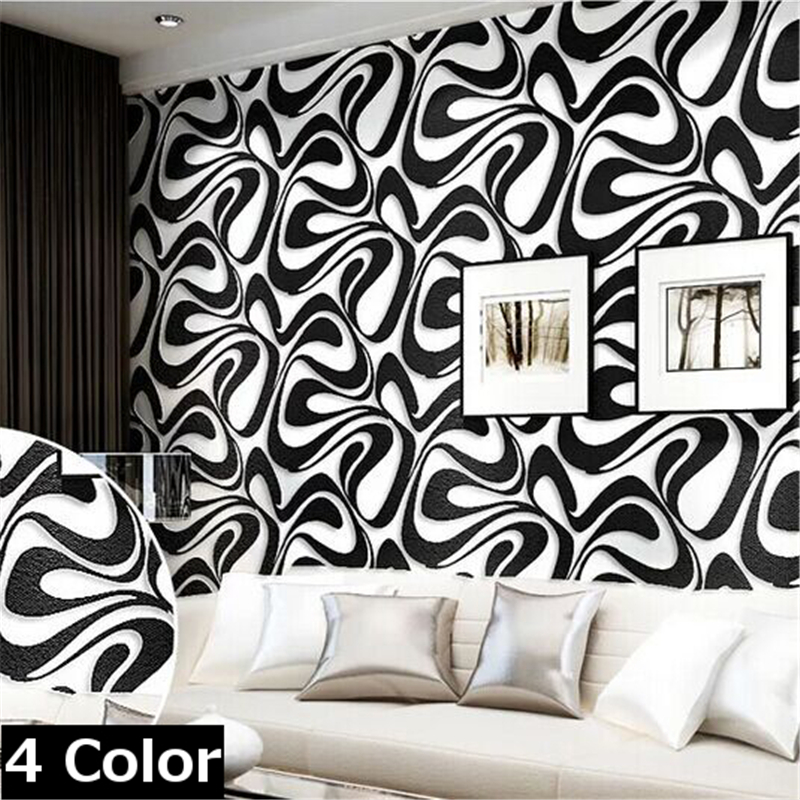 wallpaper Modern 3D three-dimensional non-woven wallpaper bedroom minimalist embossed stripe Home Furnishing decorative wallpape