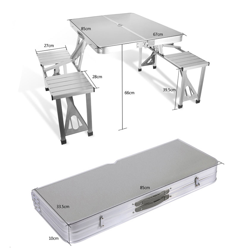 Outdoor Picnic Folding Table And Chair Portable Foldable Aluminum Desk Chair Set folding tables and chairs table and chairs table table - title=